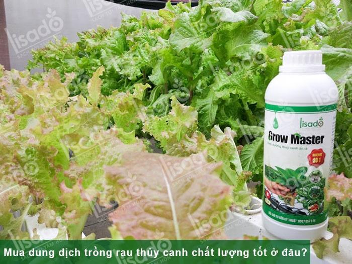 Mua dung dịch trồng rau thủy canh chất lượng. giá tốt ở đâu?