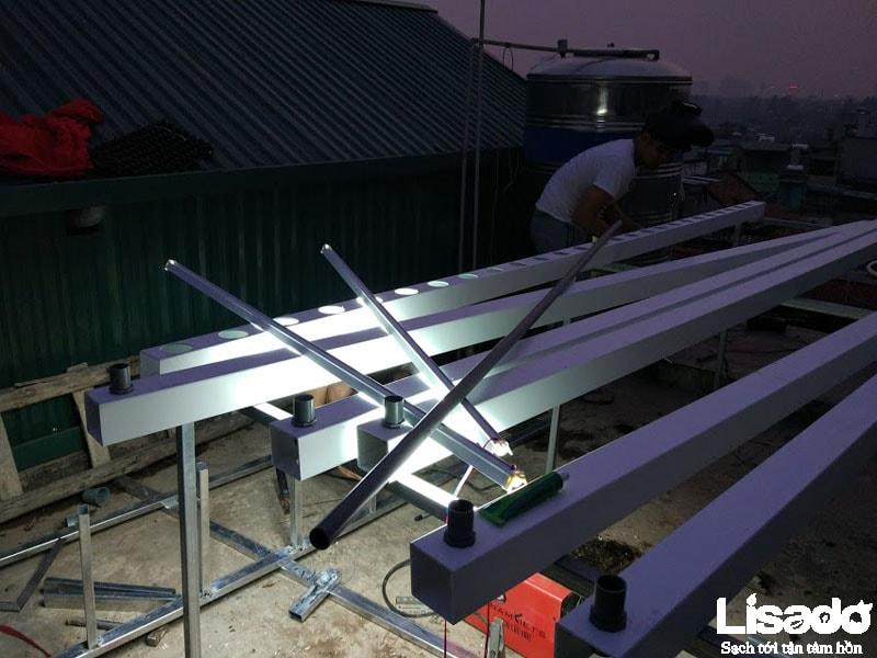 Công trình trồng rau thủy canh sạch tại Nam Dư- Lĩnh Nam - Hà Nội