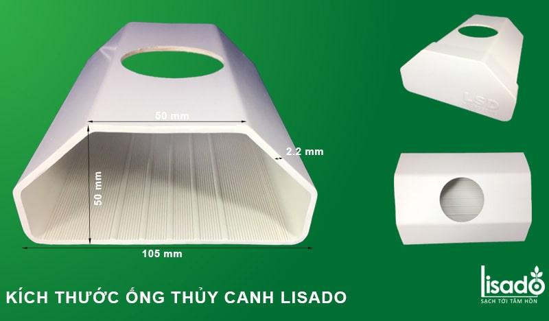 Ống nhựa trồng rau thủy canh lục giác Lisado