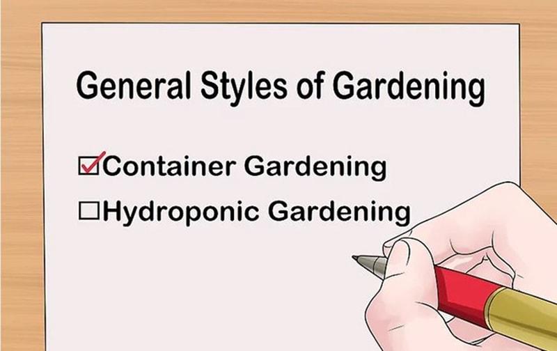 Quyết định loại vườn bạn muốn