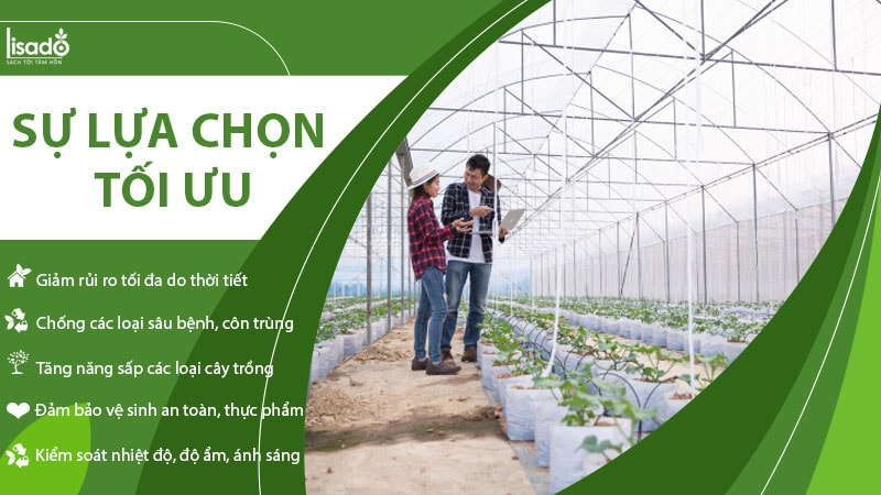 Công nghệ nhà màng là lựa chọn tối ưu cho nông nghiệp