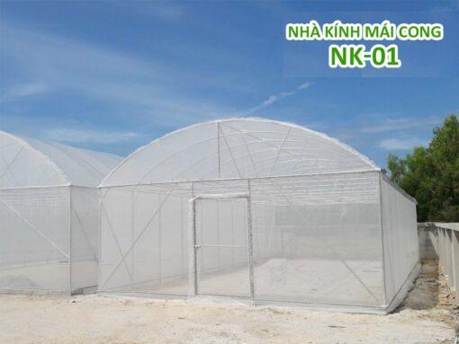 Nhà kính mái cong (mái vòm) NK-01