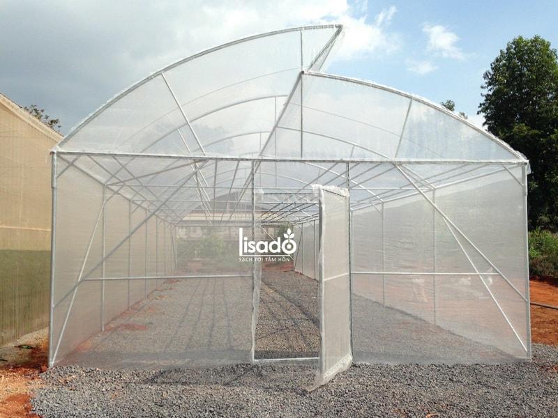 Nhà kính trồng rau 1 mái hở NK-02 | LISADO VIỆT NAM