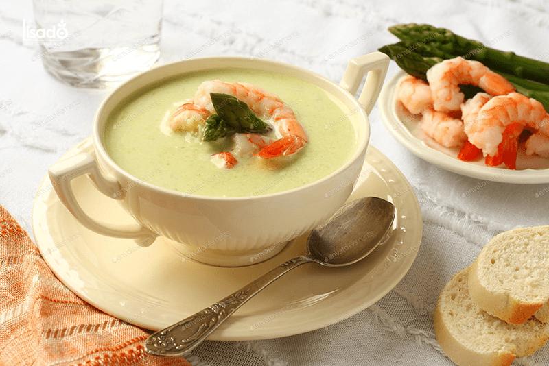Súp tôm măng tây bổ dưỡng cho bé