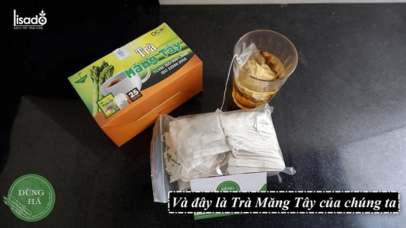 Sử dụng trà măng tây túi lọc