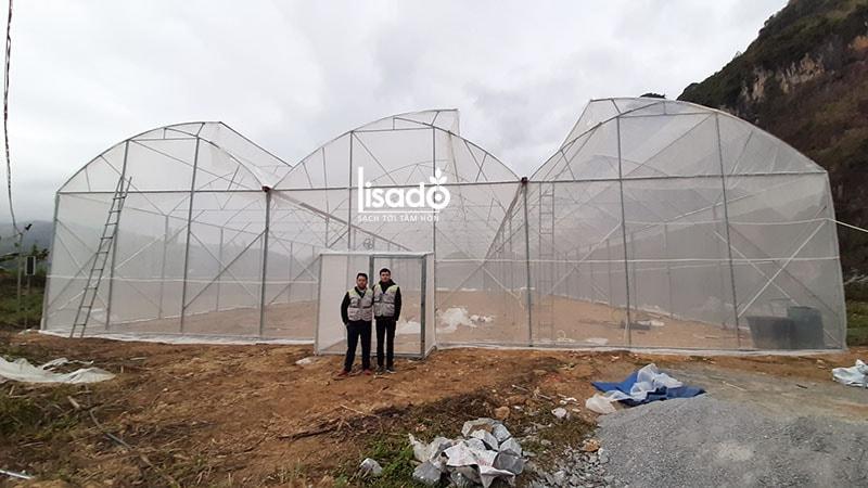 Dự án nhà màng - nhà lưới 800m2 tại Yên Minh, Hà Giang