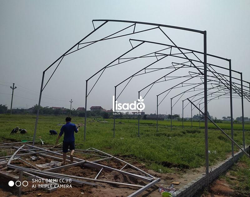 Dự án thi công nhà màng diện tích 1575 m2 tại Bắc Ninh