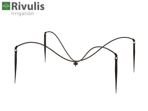 Đầu tưới chia 4 Supertif - Rivulis được nhập khẩu trực tiếp từ Israel giúp chia từ 1 đầu ra 4 đầu tưới, thường áp dụng dành cho các loại cây trồng trong chậu, bầu như: cây cảnh, hoa, dưa lưới, cà chua, dưa leo.