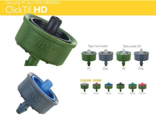 Đầu tưới nhỏ giọt Clicktiff bù áp 4 lít/h - NDJ (Israel)