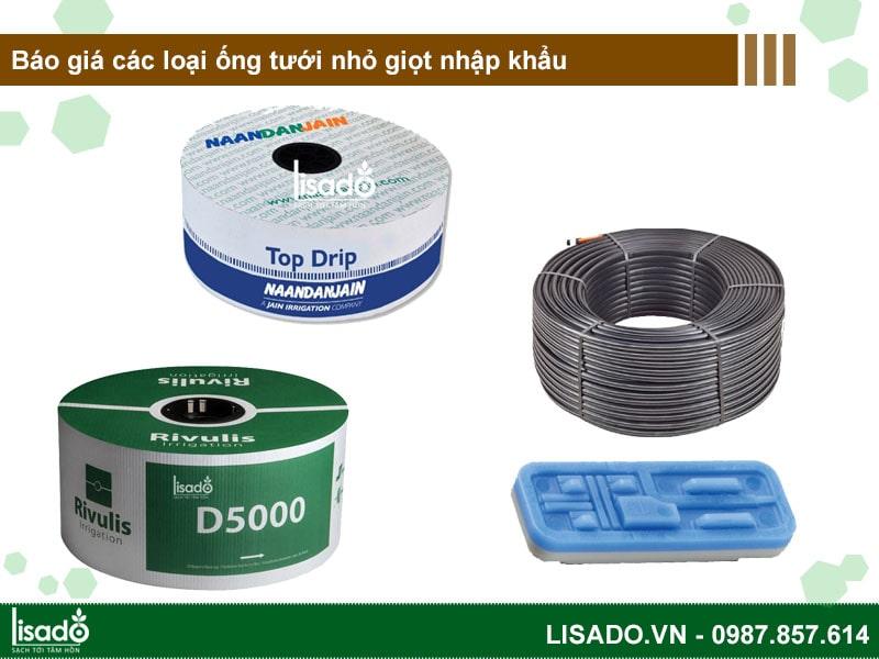 Báo giá các loại ống tưới nhỏ giọt nhập khẩu