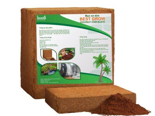 Mụn xơ dừa ép bánh Best Grow 300x300x150 mm đã qua xử lý, tiêu chuẩn xuất khẩu