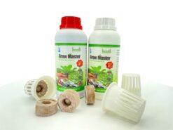 01 cặp dinh dưỡng Grow Master 500ml + 10 viên nén + 10 rọ nhựa thủy canh
