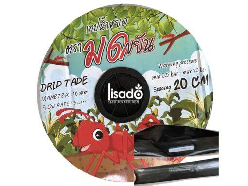 Ống tưới nhỏ giọt Drip Tape 16mm dày 0.15mm, k/c 20cm, cuộn 800 mét
